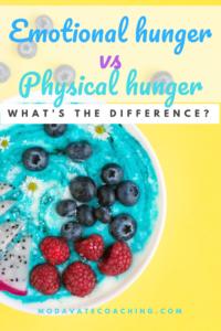 Emotional hunger vs Physical hunger